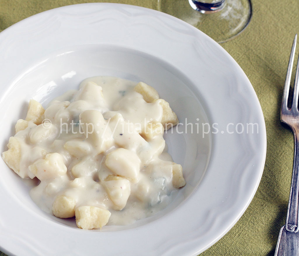 Potato & Polenta Gnocchi With Gorgonzola Sauce Recipe - Taste.com.au