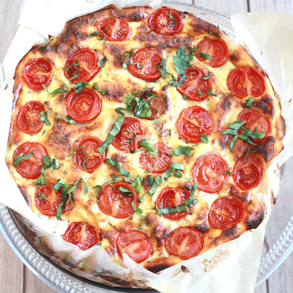 Tomato Tart With Ricotta And Brown Rice - gluten free -
